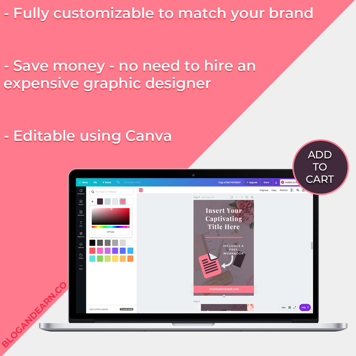 Pinterest marketing templates